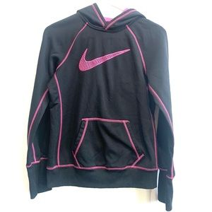 Nike Sweater in Black with Pink Logo